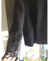 Maje Veste laine mélangée noir