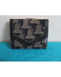 Lanvin Porte-monnaie cuir bleu
