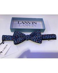 Lanvin Noeud papillon soie multicolore - Bleu