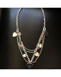 Dior Sautoir métal argent - Métallisé