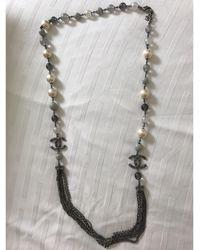 Chanel Sautoir perle gris