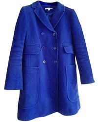 Carven Caban coton bleu