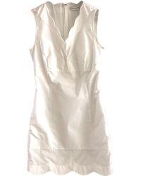 Dior Robe mi-longue coton blanc