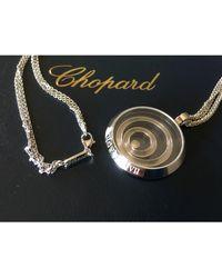 Chopard Pendentif, collier pendentif or blanc argent - Métallisé