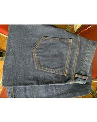 Sandro - Jeans slim denim, jean bleu - Lyst
