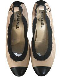 Chanel Ballerines cuir beige - Neutre