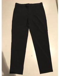 Sandro - Pantalon droit coton bleu - Lyst
