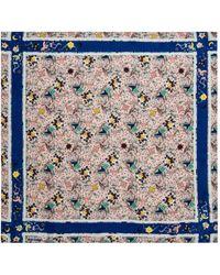 Zadig & Voltaire Foulard soie multicolore - Bleu