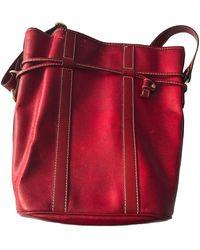 Lancel Sac en bandoulière en cuir cuir rouge
