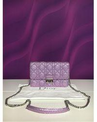 Dior Sac à main en cuir cuir irisé MISS violet