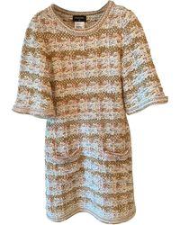 Chanel Robe mi-longue viscose beige - Neutre