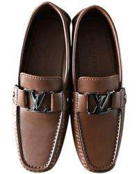 Louis Vuitton Mocassins cuir marron