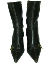 Dior Bottines & low boots à talons cuir marron