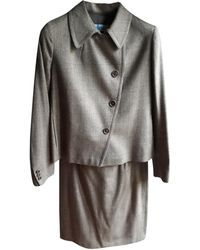 Max Mara Tailleur jupe laine mélangée beige - Neutre