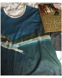 Sandro Tee-shirt lin bleu