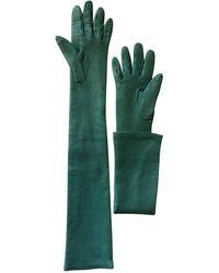 Lanvin Gants cuir vert