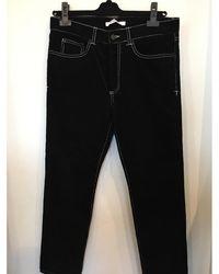 Givenchy Pantalon slim cotton velour , agneau noir