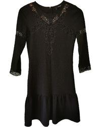 The Kooples - Robe courte coton noir - Lyst