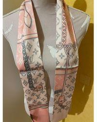 Louis Vuitton Foulard soie rose