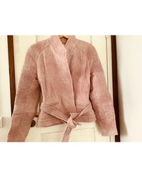 IRO Manteau polyester rose