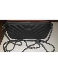 Chanel Pochette cuir Wallet-On-Chain noir