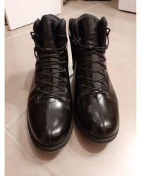 Rossignol Bottes de neige cuir noir