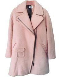 Sonia Rykiel Manteau laine rose