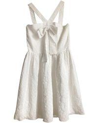 Maje Robe courte polyester blanc