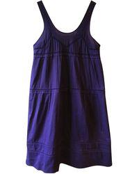 Sonia Rykiel - Robe longue coton violet - Lyst