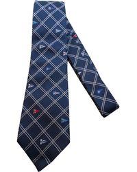 Louis Vuitton - Cravate soie bleu - Lyst