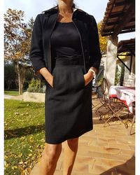 Chanel Tailleur jupe laine noir