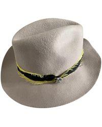 Zadig & Voltaire Chapeau feutre beige - Neutre