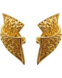Balmain Boucles d'oreilles plaqué or doré - Métallisé