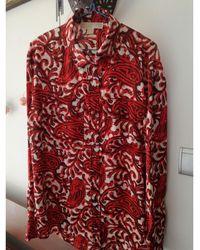 Michael Kors - Chemisier polyester rouge - Lyst