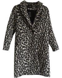 Maje - Manteau laine noir - Lyst