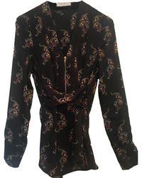 Sandro - Blouse polyester noir - Lyst