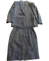 Burberry Tailleur jupe laine noir