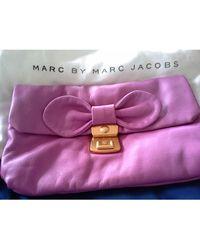 Marc By Marc Jacobs Sac pochette en cuir cuir violet