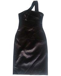 Michael Kors - Robe courte polyester noir - Lyst