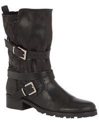 Maje Bottines & low boots motards cuir noir