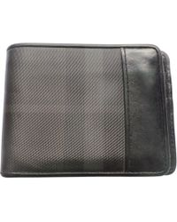 Burberry Portefeuille cuir noir