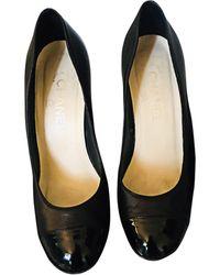 Chanel Escarpins compensés cuir noir