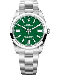 Rolex Montre au poignet acier OYSTER PERPETUAL vert