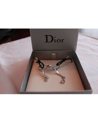 Dior Collier métal argent - Métallisé