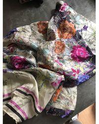 Gerard Darel - Foulard soie multicolore - Lyst