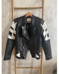 IRO - Veste en cuir cuir noir - Lyst