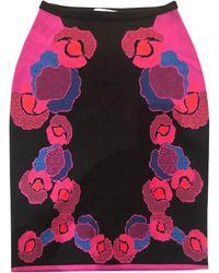 Diane von Furstenberg - Jupe mi-longue viscose multicolore - Lyst