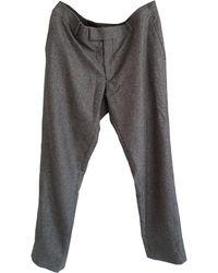 The Kooples Pantalon droit laine multicolore - Gris