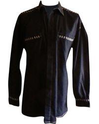 Versace Chemise coton noir