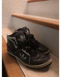 adidas - Baskets cuir noir - Lyst